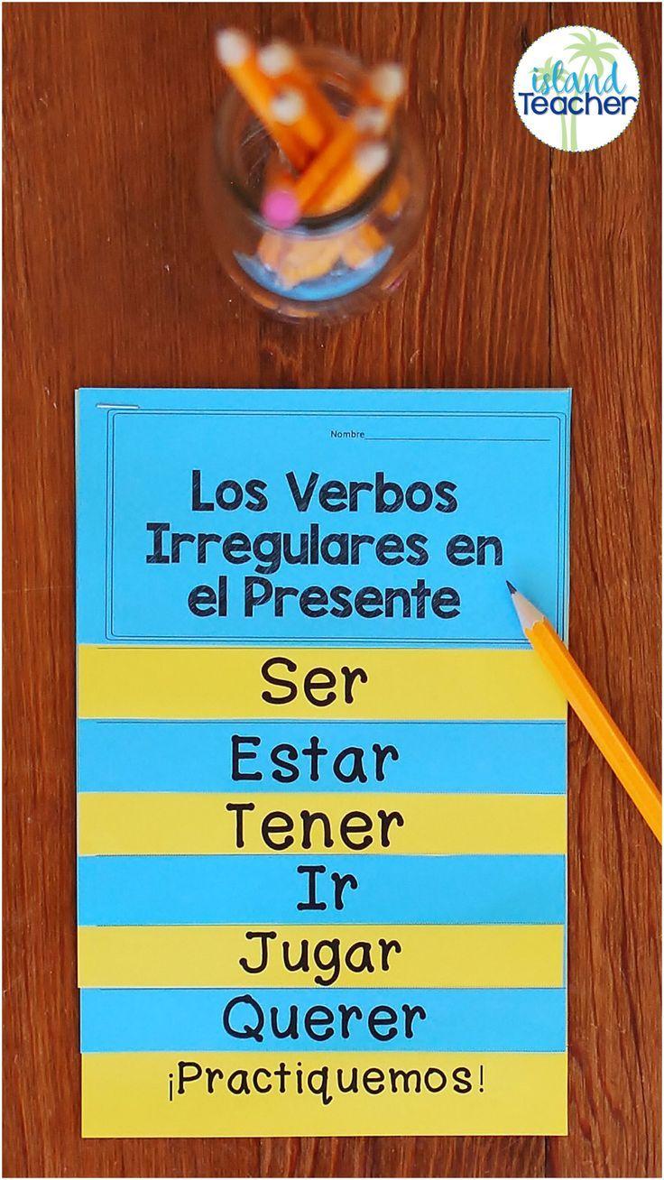 Spanish Present Tense Irregular Verbs Interactive Flip Book Editable Irregular Verbs Elementary Spanish Learn Spanish Online [ 1308 x 736 Pixel ]