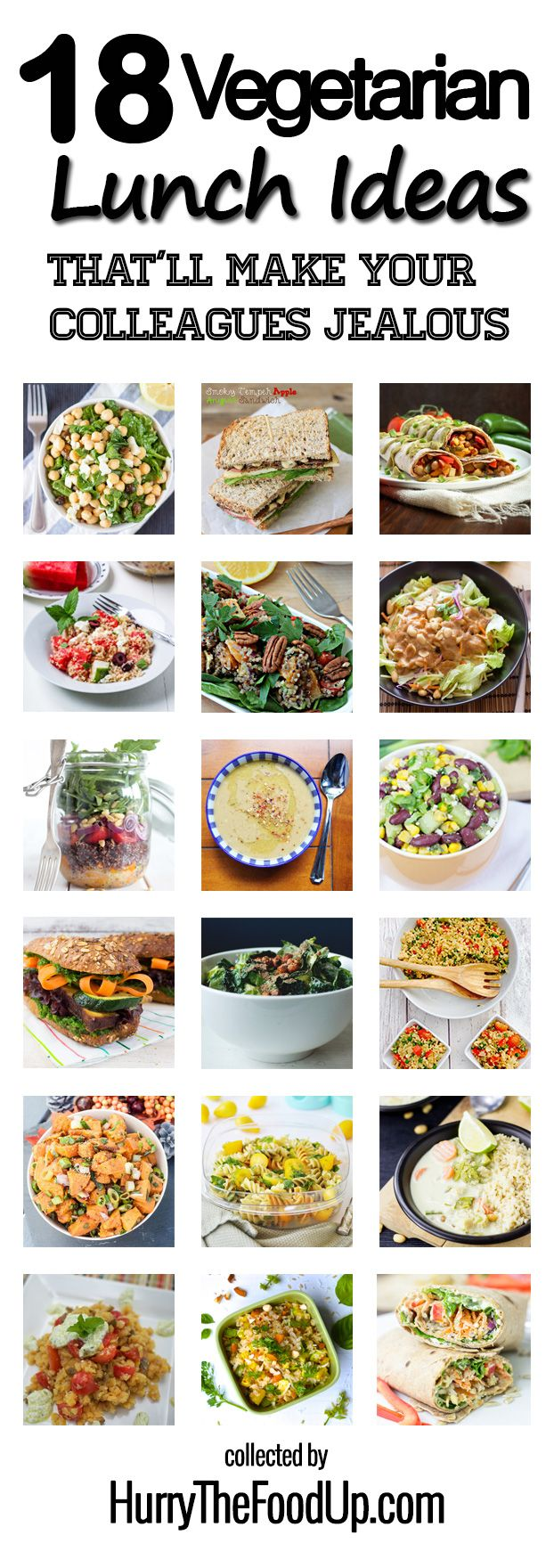 18 Vegetarian Lunch Ideas That Will Make Your Colleagues Jealous Recipe Healthy Vegetarian Vegetarian Lunch Easy Vegetarian