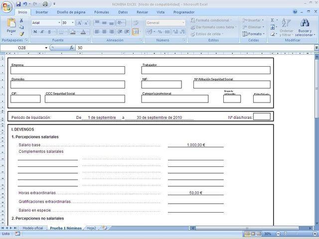 Nóminas En Excel Plantillas Excel Hojas De Cálculo Recursos Humanos
