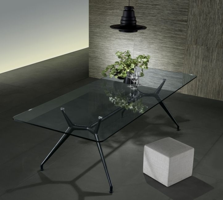 italiaanse design glazen tafel rimadesio manta verg