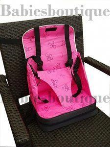 ae194354cd9a Portable Baby Booster Seat Travel High Chair 5 Straps Foldable Easy ...