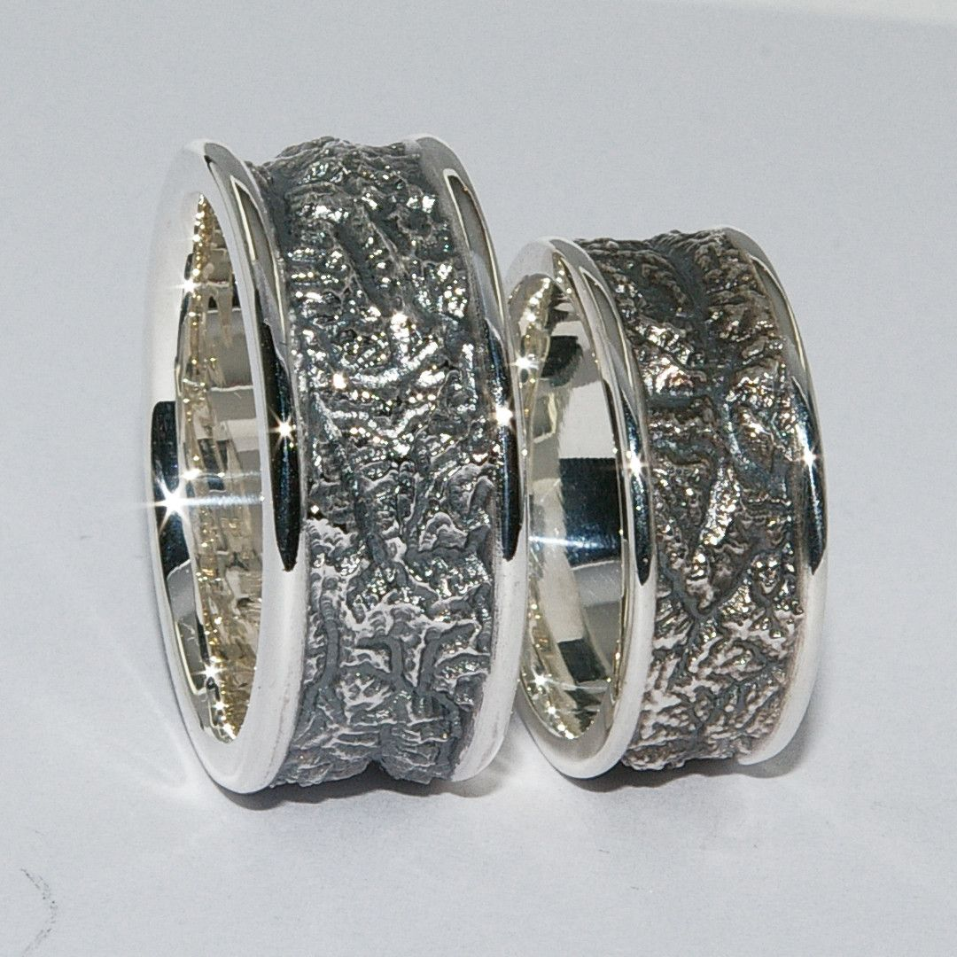 Partnerrings Relief Switzerland Silver Eheringe