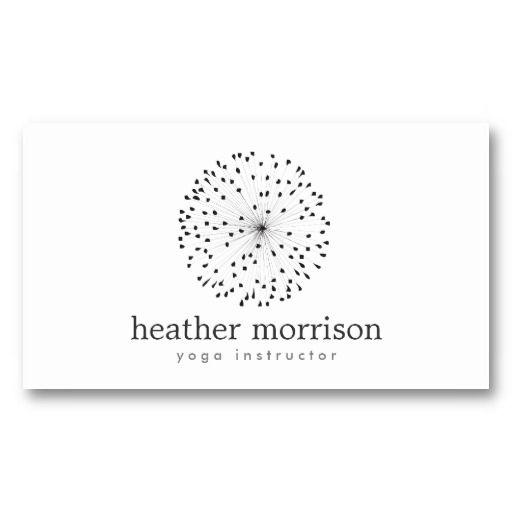 DANDELION STARBURST LOGO on WHITE Business Card Card templates - starburst templates