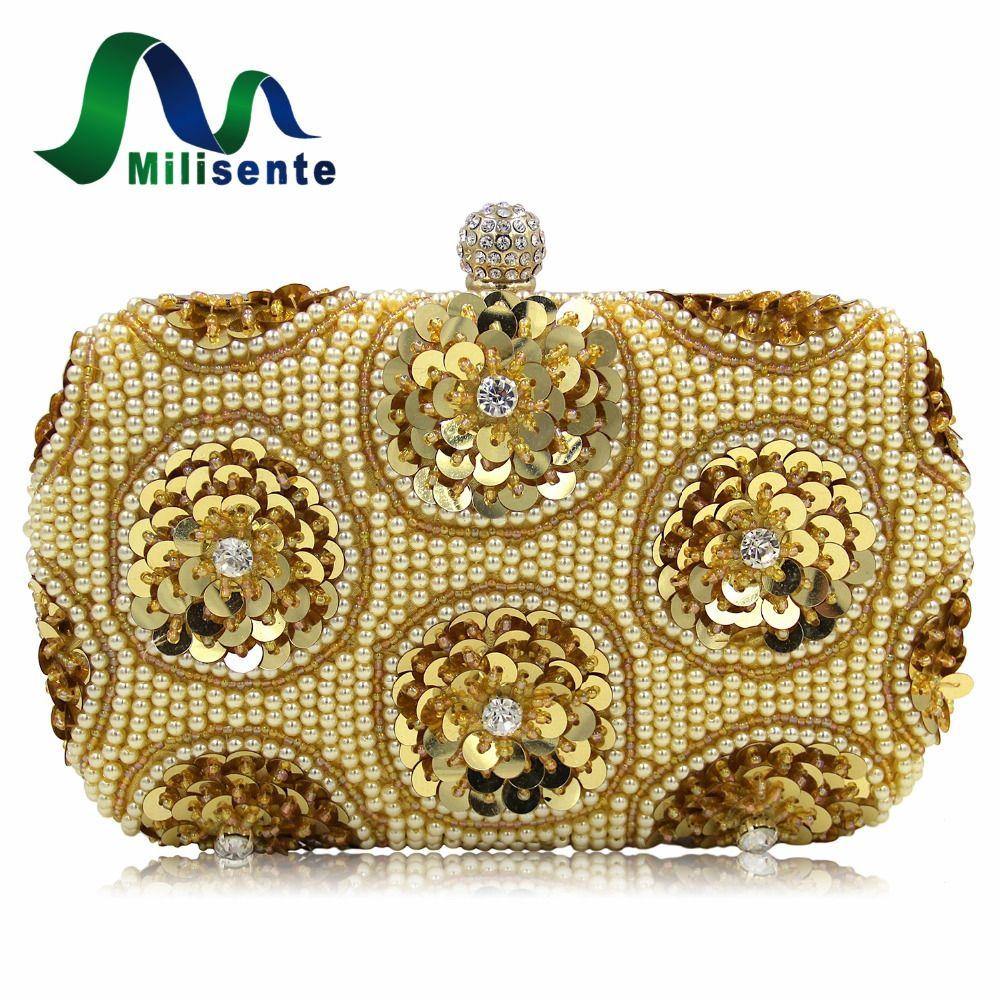 Aliexpress Buy Milisente Ladies Wedding Bag Female Beaded Clutches Purses Women Days Clutch