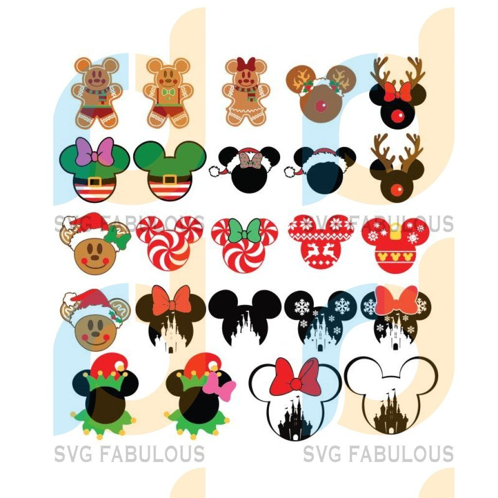 Mickey Mouse Svg, Minnie Svg, Christmas Svg, Bundle