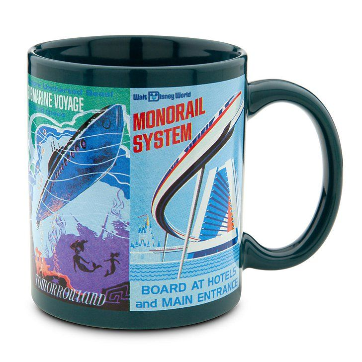 Pin for Later: 67 Gifts For Disneyland Fanatics Disney Parks Attraction Poster Mug Disney Parks Attraction Poster Mug - Teal ($15)  Disney Parks Attraction Poster Mug - Green ($15)