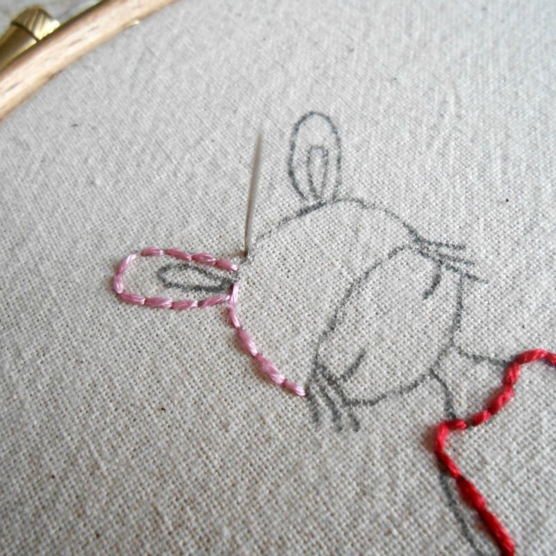 Backstitch Tutorial Small Stitched Ones Pinterest Embroidery
