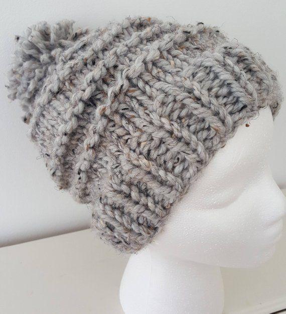 d0e75ef7527 Gray Wool Pom Pom Hat