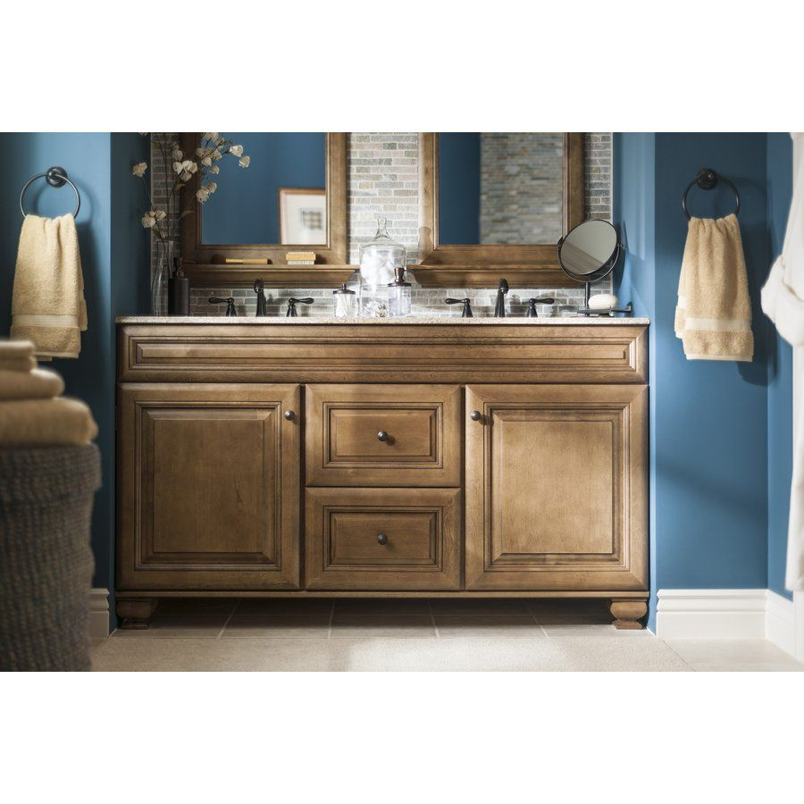 This Ebony Glaze Traditional Bathroom Vanity Is Crafted from Wood