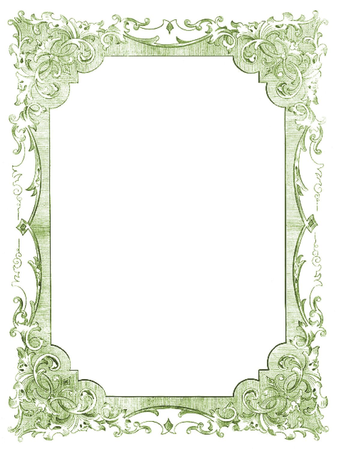 The Graphics Fairy LLC*: Vintage Clip Art - Romantic Frames ...