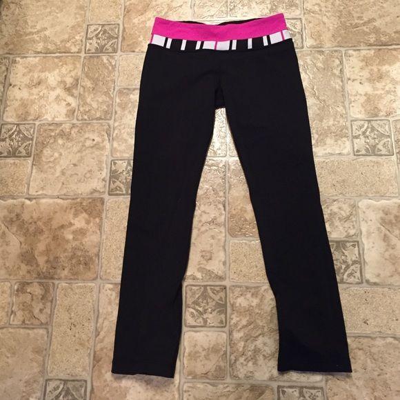 d071743d27 Lululemon reversible straight leg pants Reverses to all black. No tag but  size dot is inside hidden waistband pocket. Excellent condition. lululemon  ...