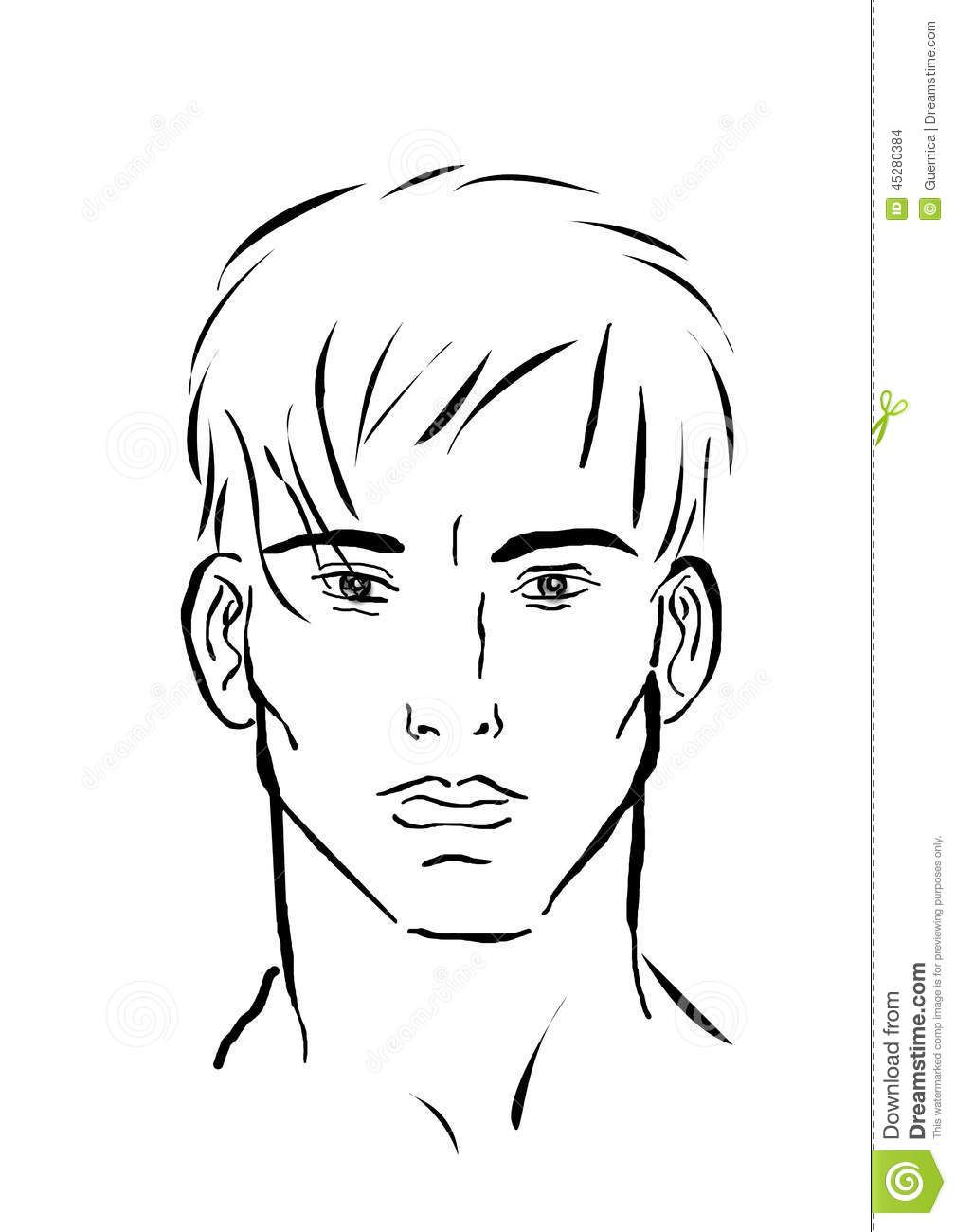 Simple Sketched Faces Google Search Boy Face Male Sketch Face