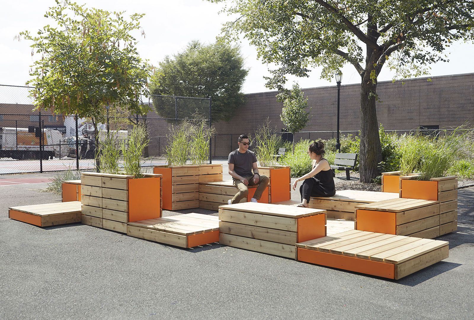 Michael Clyde Johnson, Untitled Benches, Patios, Planters ...
