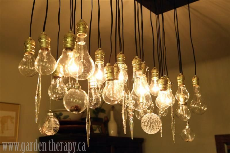 Merry christmas a whoville party pinterest clear light bulbs my chandelier all dressed up for the holidays hmmm i just may keep the added crystal it looks so sparkly aloadofball Images