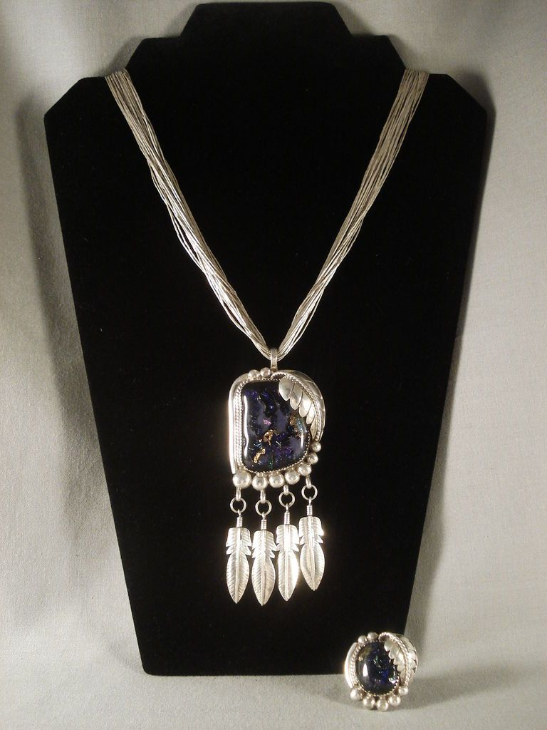 ONE OF THE MOST UNIQUE VINTAGE NAVAJO MOONSTONE SILVER NECKLACE RINGVTG OLD in | eBay