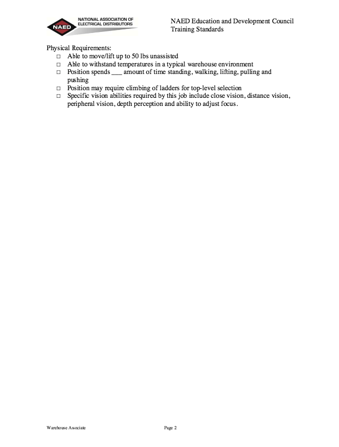 Etonnant In Post This Time We Will Give A Example About Sample Of Warehouse  Associate Job Description Resume That Will Give You Ideas And Provide A  Reference For ...