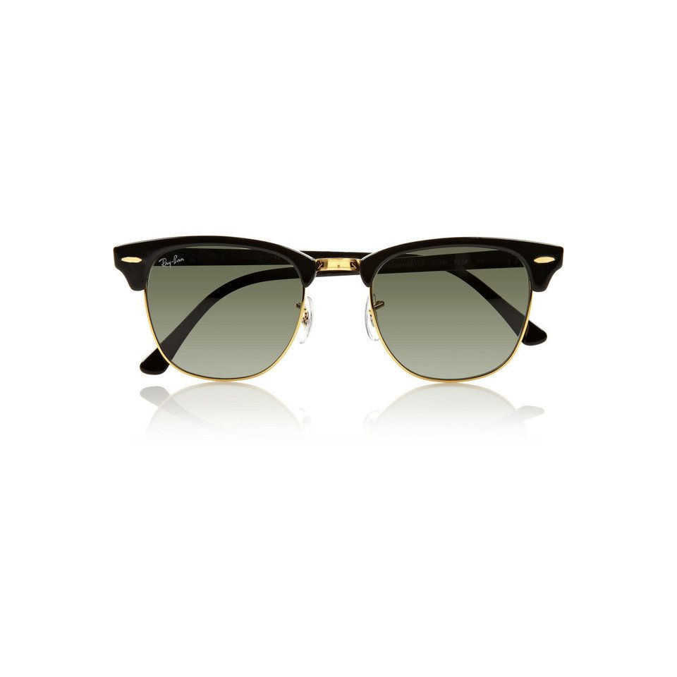 Ray-Ban | Clubmaster half-frame acetate sunglasses ($145.00 ...