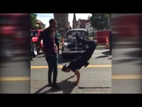 Police Officer Challenges Street Performer to Epic Dance Battle - YouTube