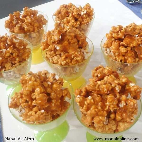 بوب كورن كراميل منال العالم Recipes Food Caramel Popcorn