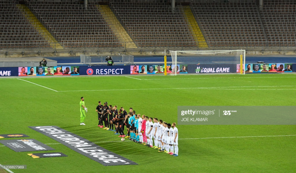 Players Of Lask And Manchester United Line Up Prior To The Uefa In 2020 Manchester United Line Up Manchester United Football S