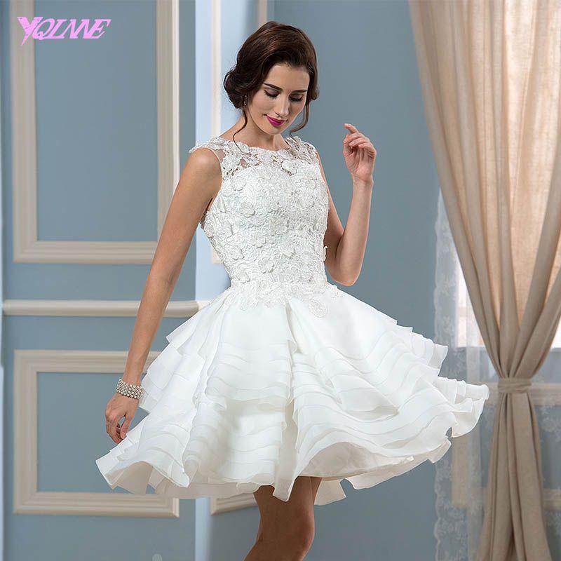 Sexy Kurze Abendkleider Ballkleid Kleid Organza Zipper Zurück ...