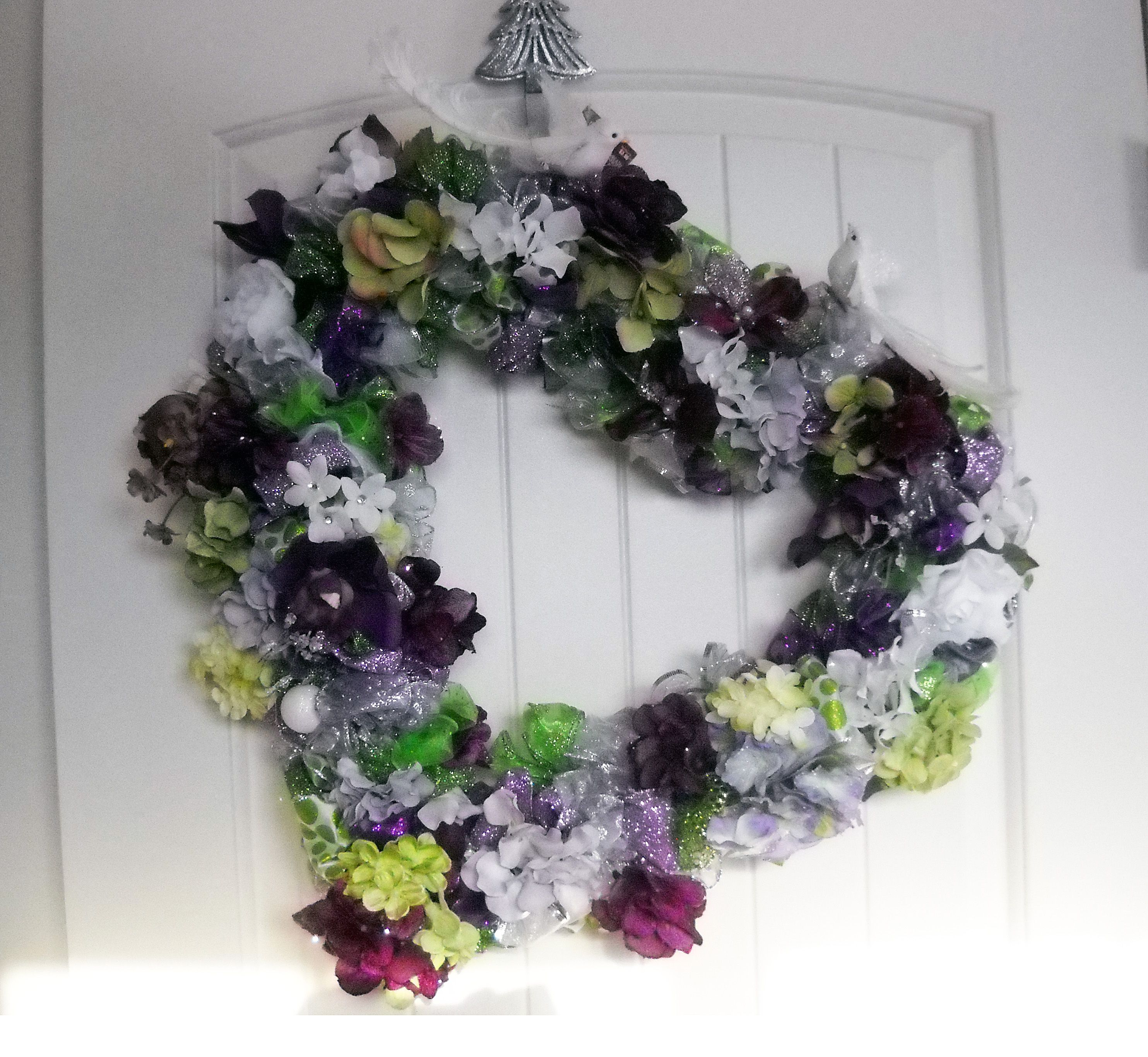 This Is A Beautiful Heart Shaped Wreath In Again The