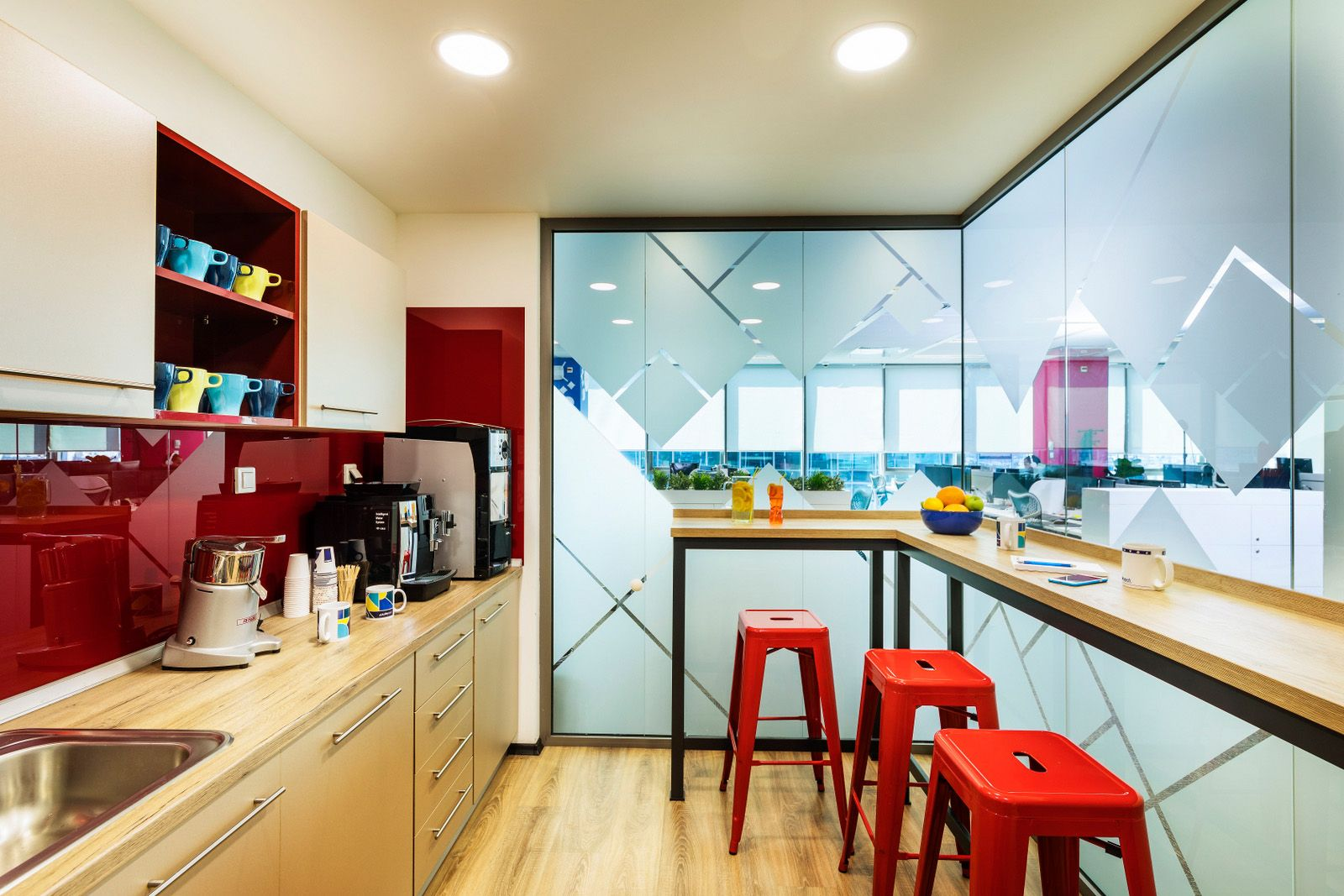 Office Tour: Playtech Offices – Sofia | Office kitchenette ...