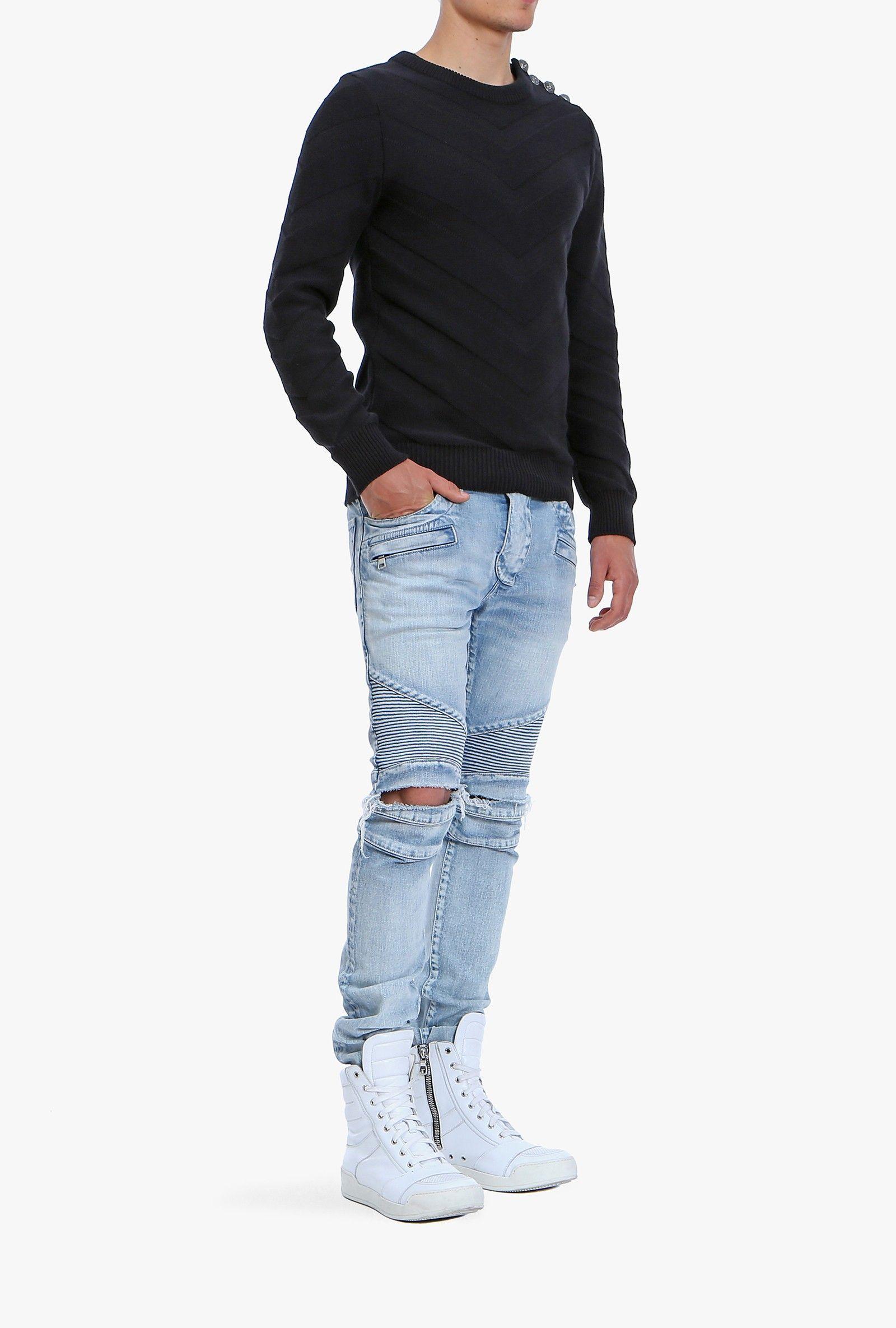 Balmain, Spring/Summer 2015, Men, Biker jeans Online Store | Stuff ...