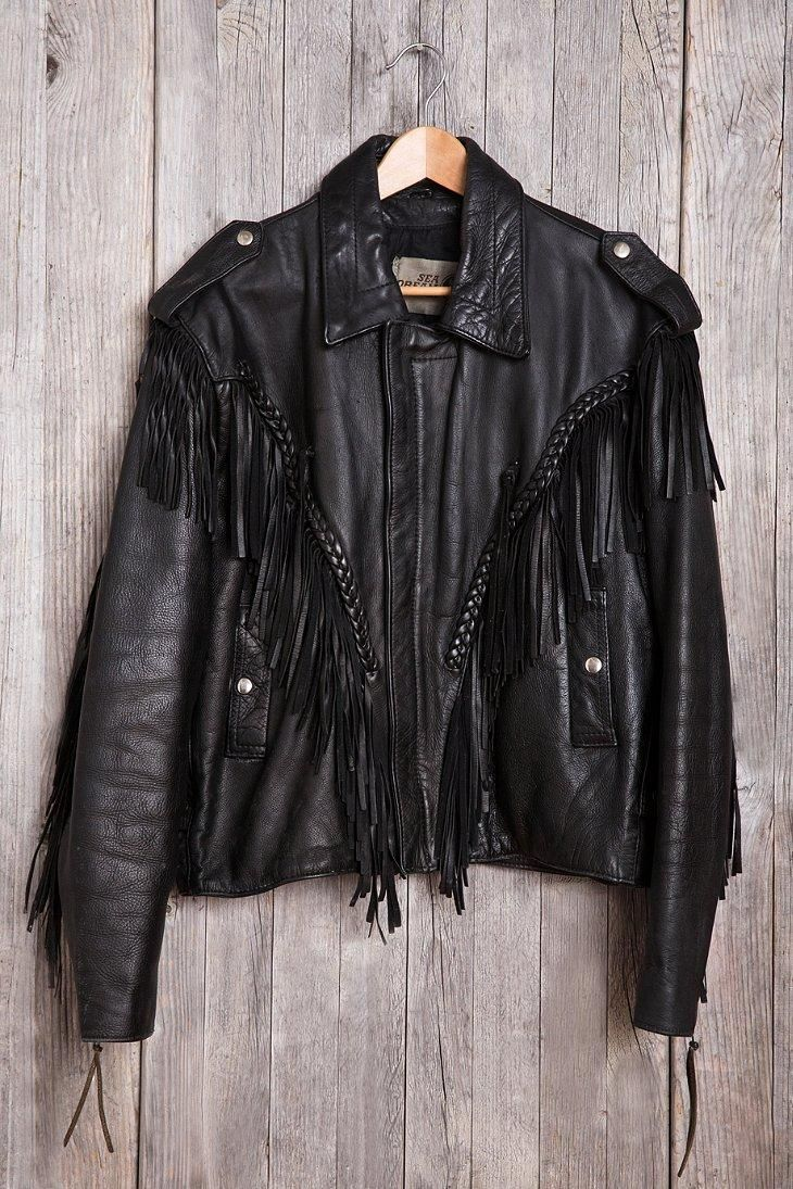 Vintage Lace-Up Leather Jacket #urbanoutfitters