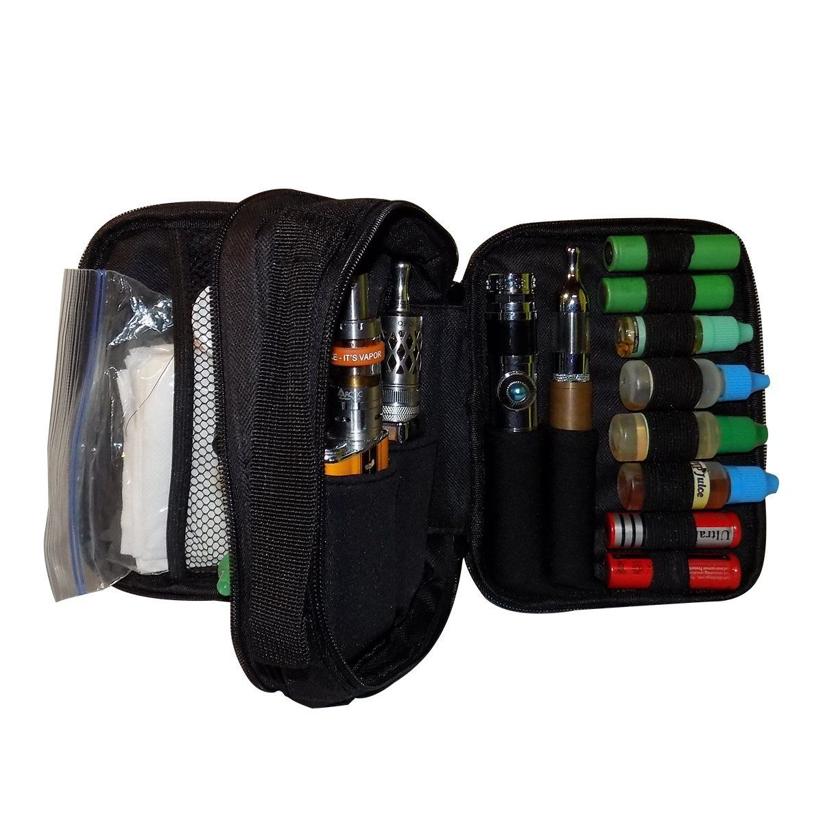 Amazon com : KaseIt Vape Carrying Case Double Sided Vape Bag