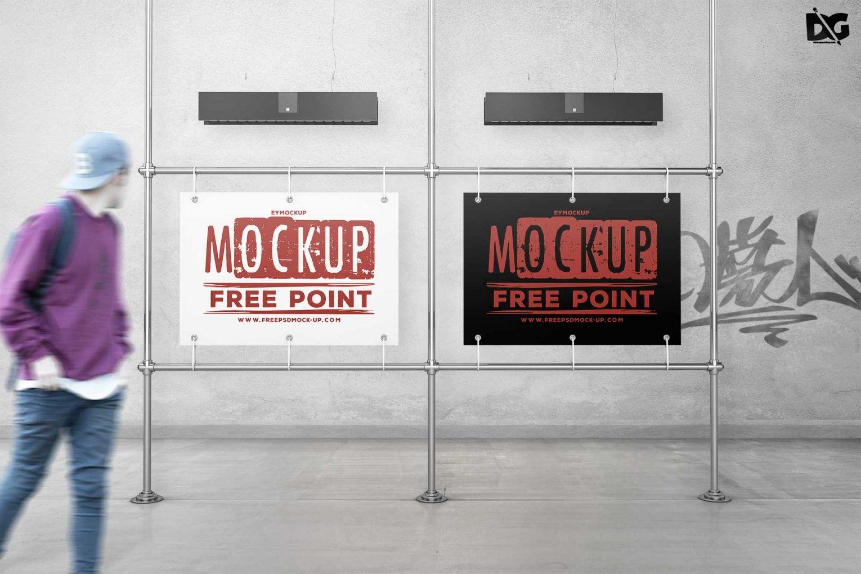 Street Side Billboard Psd Mockup For Outdoor Advertising Mockup Mockup Psd Free Logo Mockup