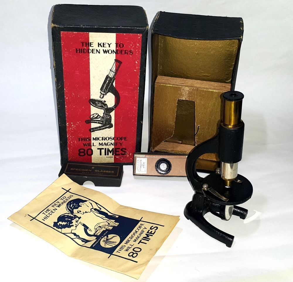 Antique Vintage Cast Iron Microscope Made In Japan Teaching Toy Misprint Ebay Teaching Toy Antiques Cast Iron