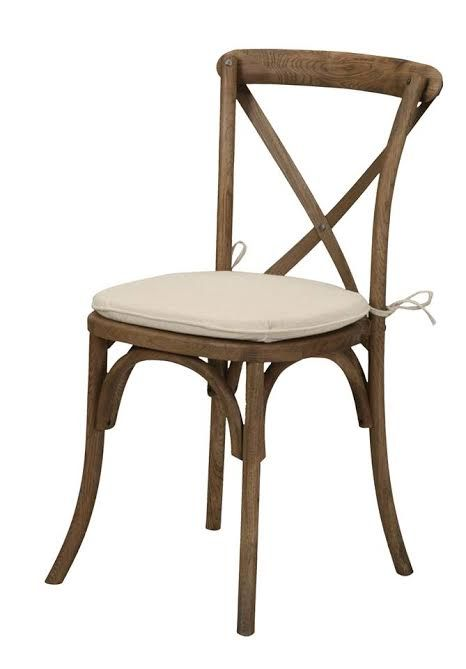 Provence X Back Natural Crossback Chairs Walnut Chair