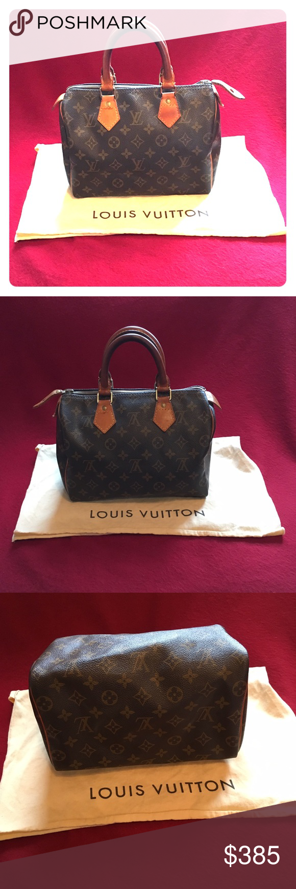 Louis Vuitton Speedy 25❤️ Amazing LV speedy, always authentic. Beautiful honey patina, canvas and piping in excellent condition, no other flaws besides normal gentle wear as shown. Not sure I want to let this lovely go, SO price is not too flexible, esp since this is a vintage beauty in gorgeous condition - hard to come across! LV dust bag not included, will include a different dust bag. Date code reads: FH0922 Louis Vuitton Bags Satchels