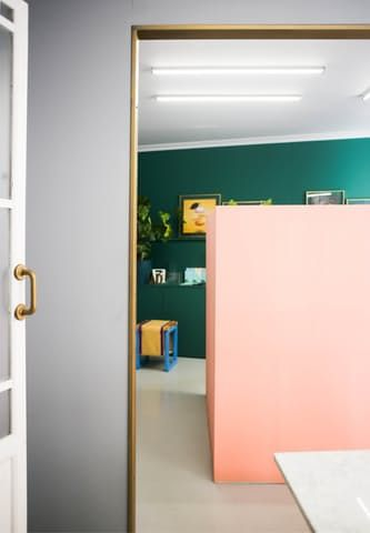 metallic paint idea archway or door casings colorful space of interior design firm masquespacio in spain apartment therapy