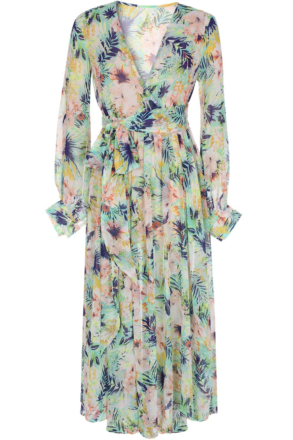 Long sleeve floal maxi dress things to wear pinterest floral