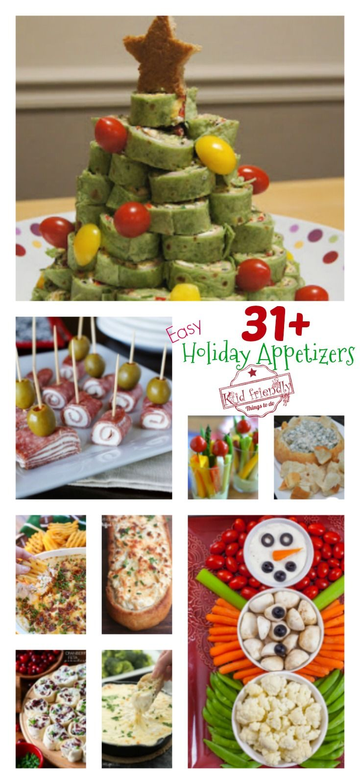 Over 31 Easy Holiday Appetizers to Make | Kid Friendly Things To Do