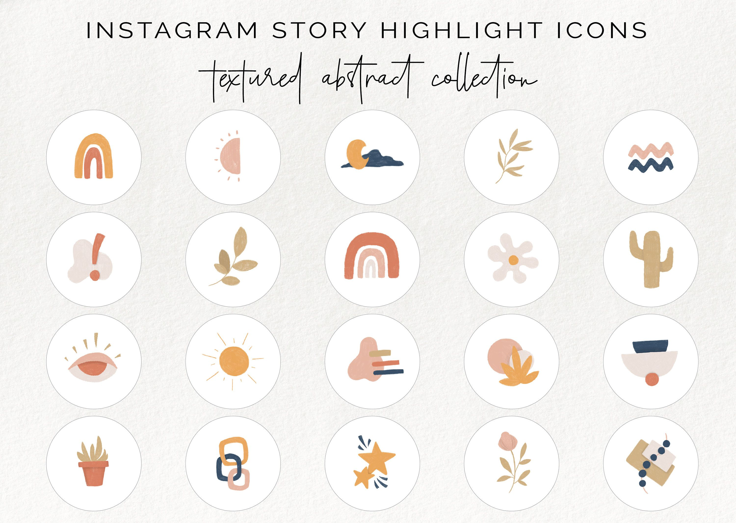 20 Instagram story highlight icons abstract insta story