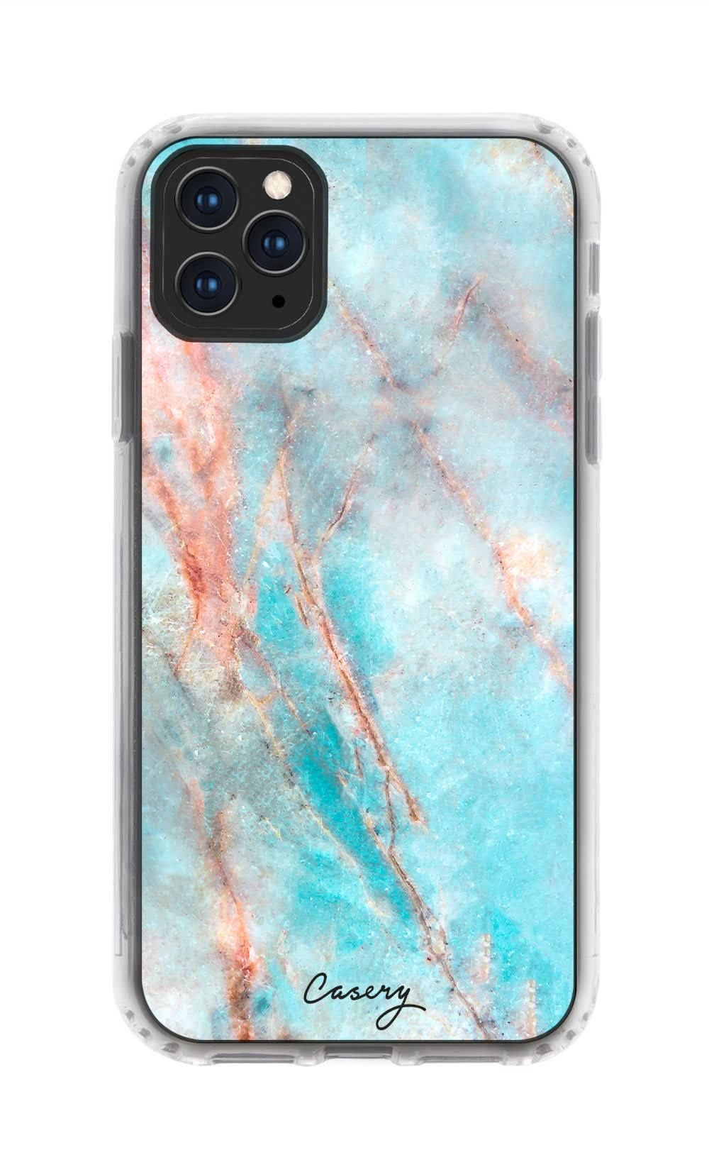Blush and Payne's Grey Flowing Abstract Painting iphone 11 case