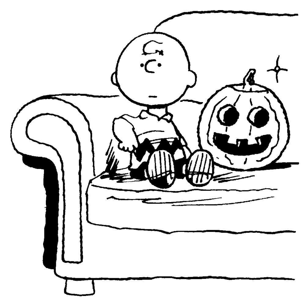 Charlie brown coloring page holidays pinterest halloween