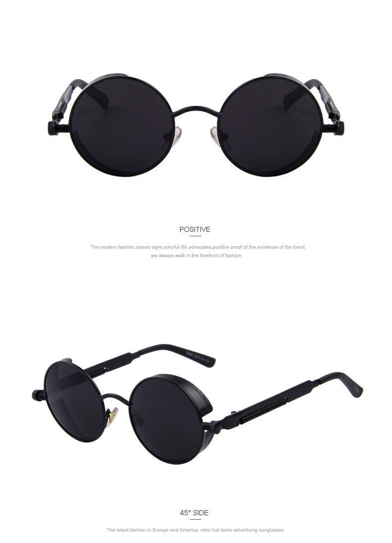 Fashion Cool Design Women Steampunk Sunglasses Brand Design Round Sunglasses Oculos De Sol UV400 WLhEAwprl5
