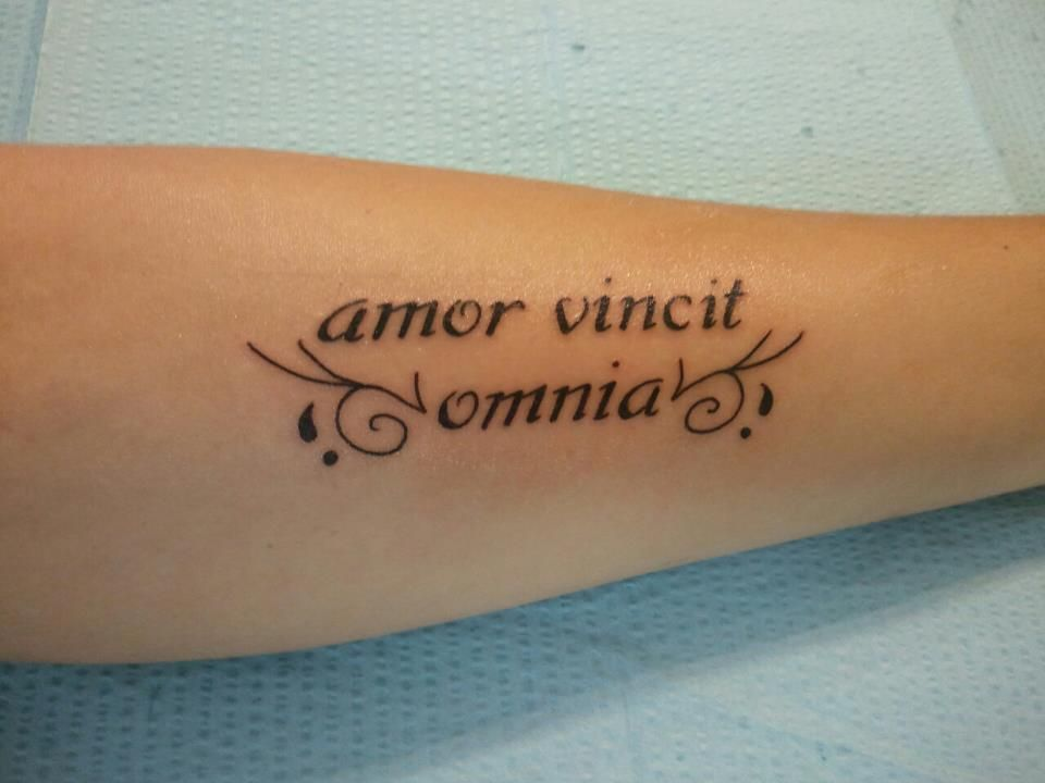 My First Tattoo Love Conquers All In Latin Tattoos Tattoos