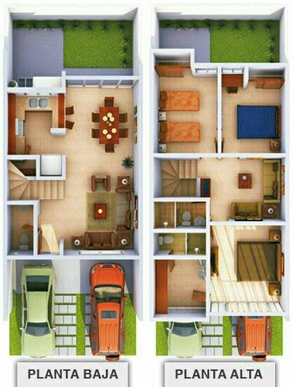 Imagen Relacionada Small House Layout House Layouts Modern House Plans