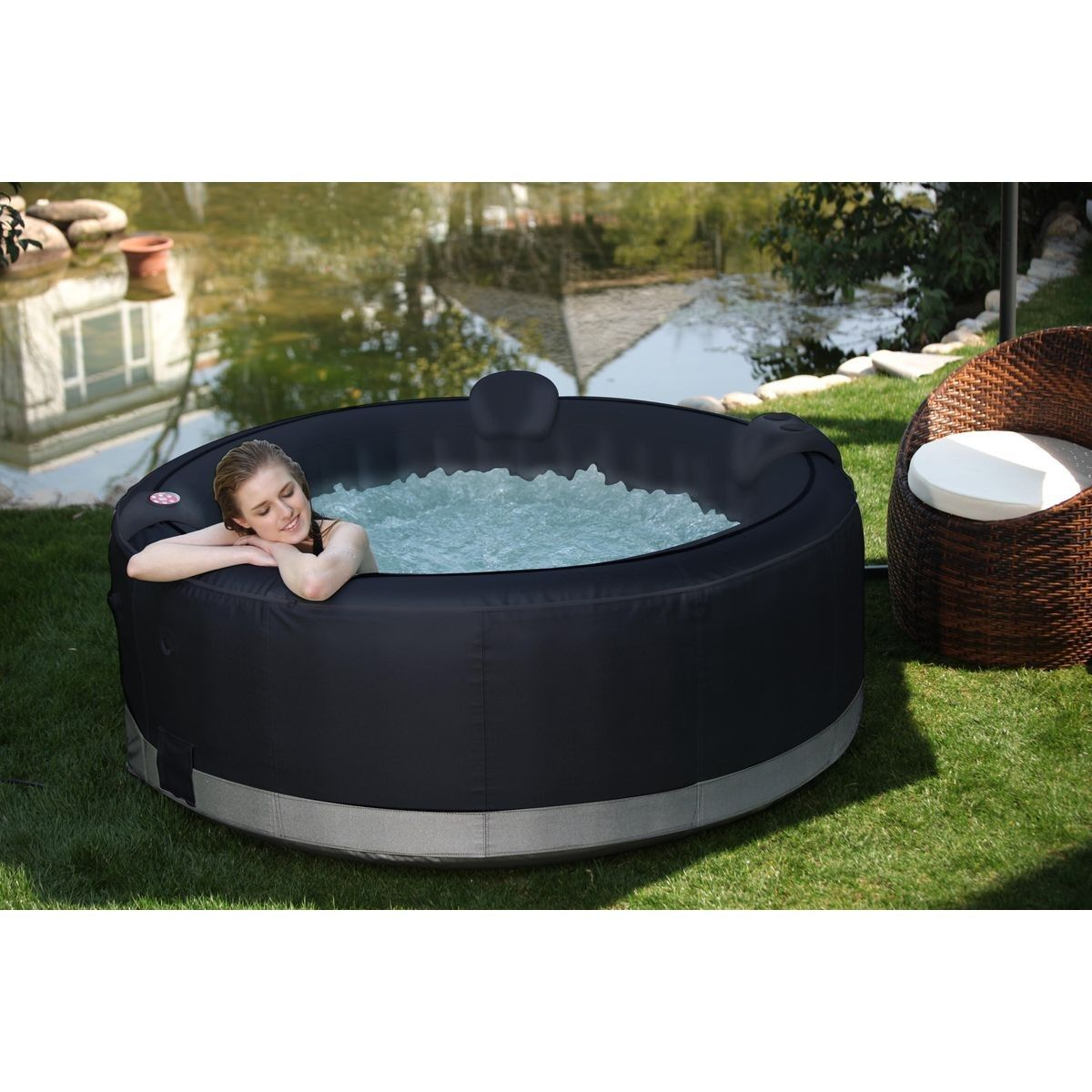 Spa Gonflable Luxe Pour 6 Personnes Dimensions 2 08m X 0 65mh