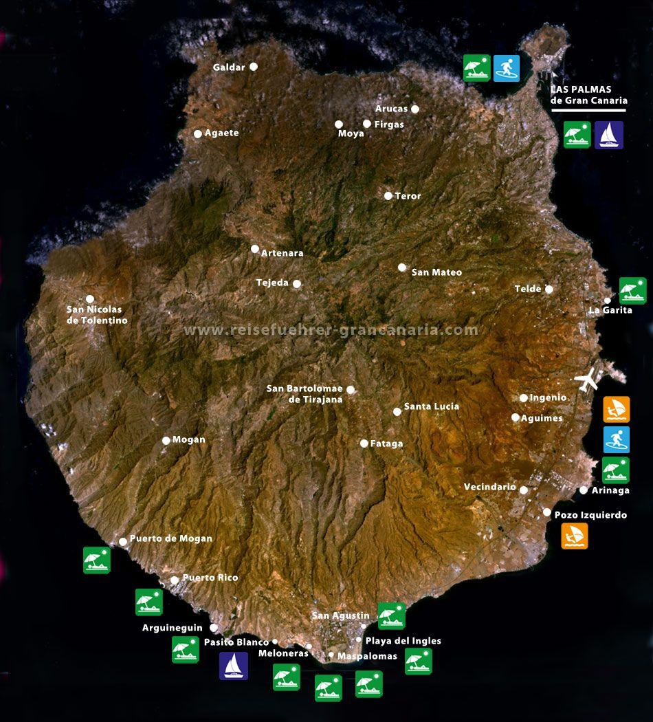 RFGCGran Canaria Karte Gran Canaria Pinterest Tourism