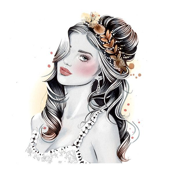 Wedding Hairstyles Drawing: 6 Easy DIY Floral Crown Hairstyles Liked On Polyvore