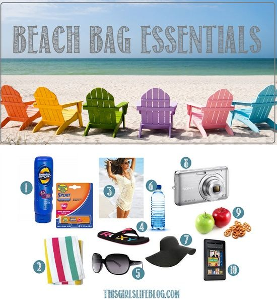 Beach / Pool Bag Essentials: Top 10 Must Haves for this | Beach ...