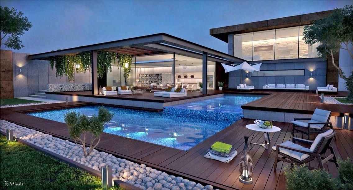 Pool House Outdoor Room Swimming Pool Landscape Design Swimming Pool Design Poollandscapingideas Architecture Dream House Exterior House Exterior