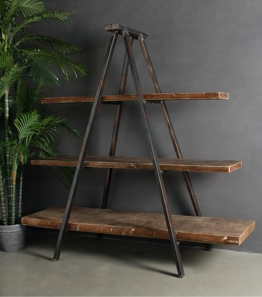 Shop Industrial Tripod Bookcase At Interiors Online Exclusive High End Furnitur Industrial Design Furniture Industrial Livingroom Vintage Industrial Furniture