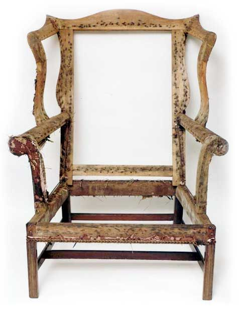 superb 18th c chippendale mahogany wing chair circa for sale antiques